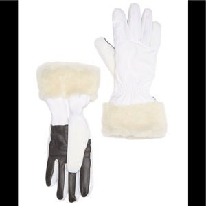 NWT Authentic UGG shearling trim tech gloves